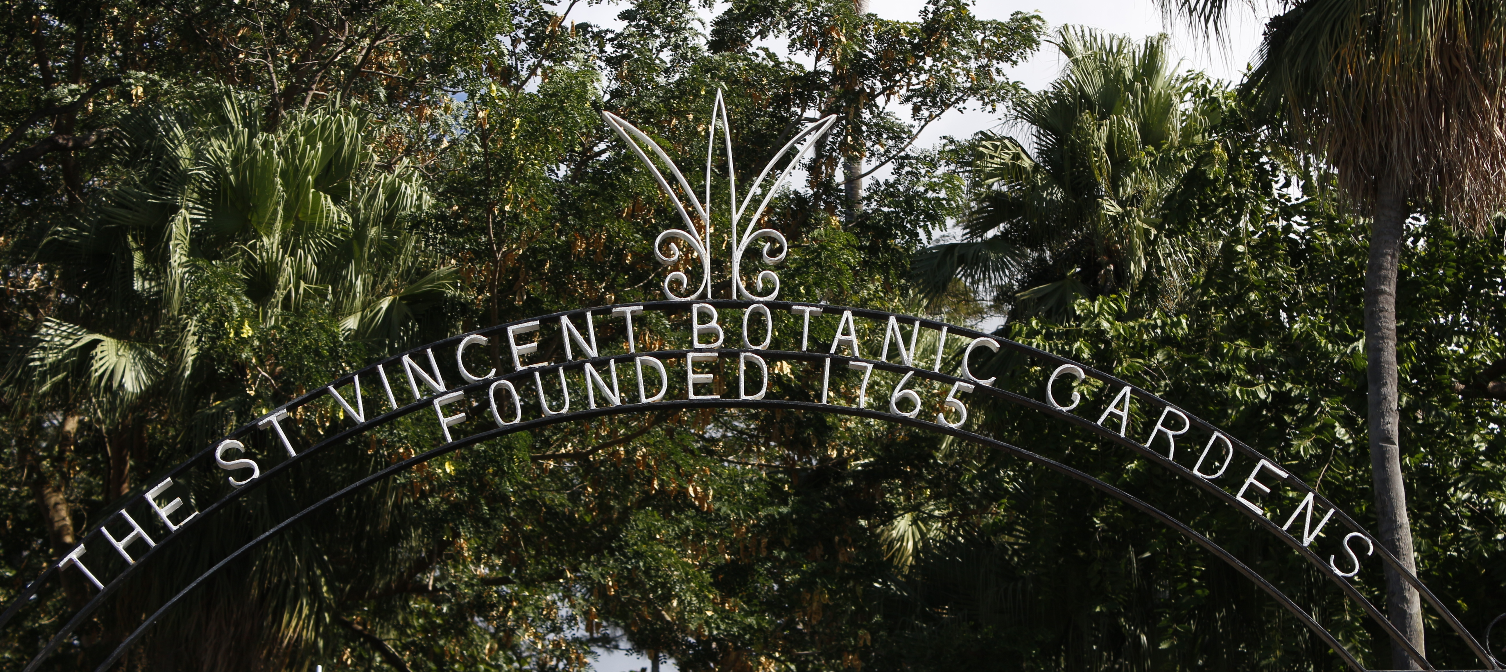 The entry to the St Vincent Botanic Garden; the oldest in the western hemisphere