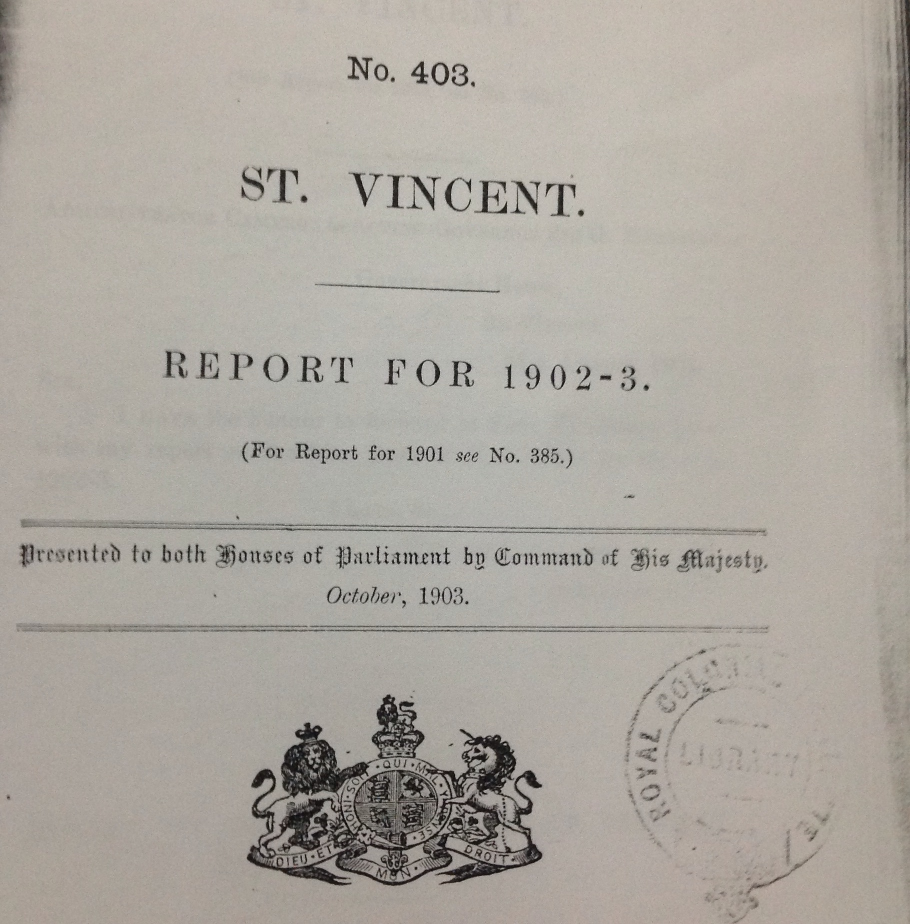 Colonial Reports for 1902