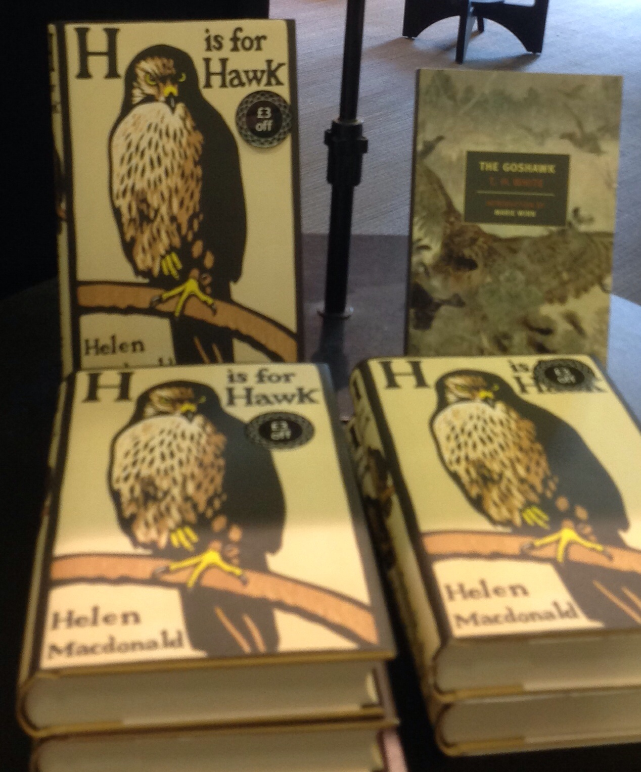 Helen Macdonald's H is for Hawk, alongside TH White's Goshawk.