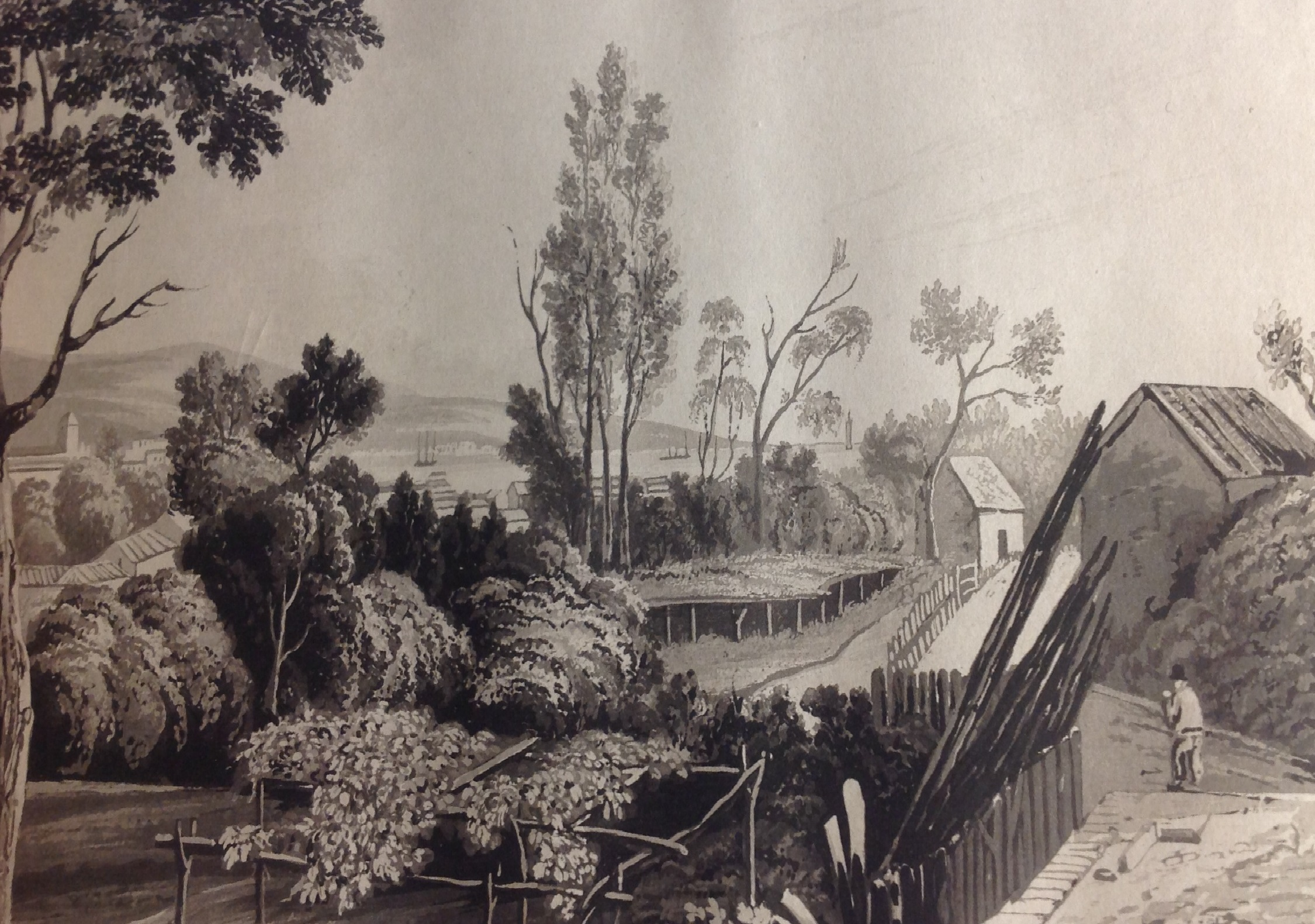 View from Maria Graham's house. Bodleian libraries, Oxford, 4° R 56 Jur