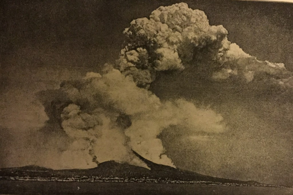 Eruption of Vesuvius, 1872-3. Frontispiece in Hull (1892).