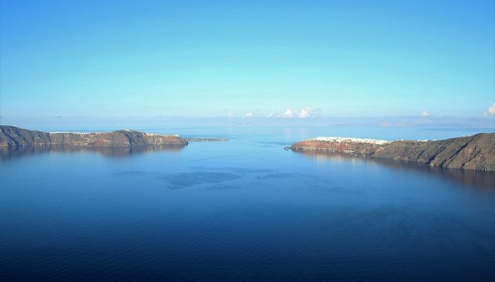 Flooding the Santorini Caldera