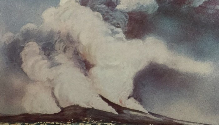The first volcanic eruption to be photographed?