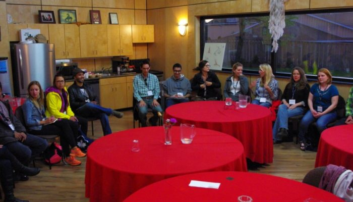 The home of our hearts day 1 – twenty-five strangers walk into a Mi'kmaq talking circle…