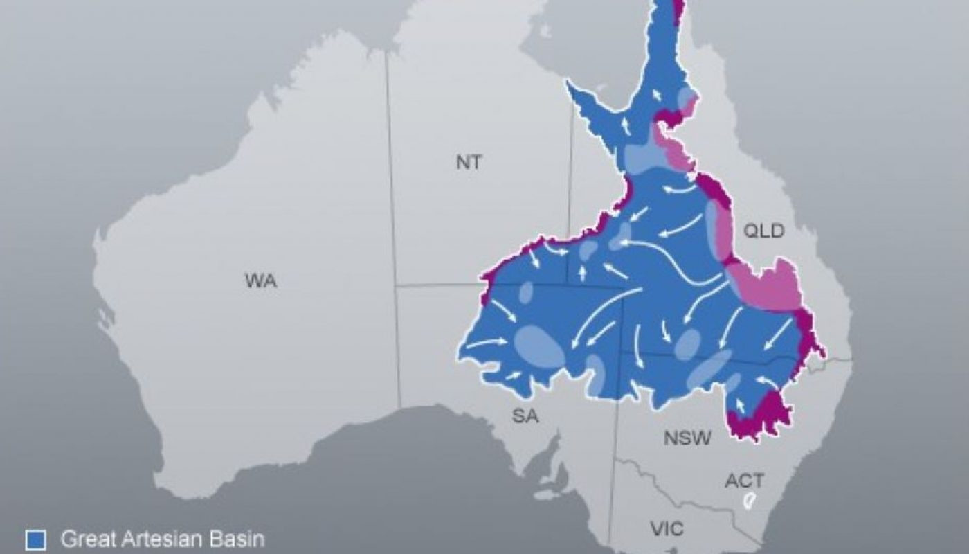 Map Of Australia Great Artesian Basin.Water Underground Protecting Springs From Groundwater Extraction