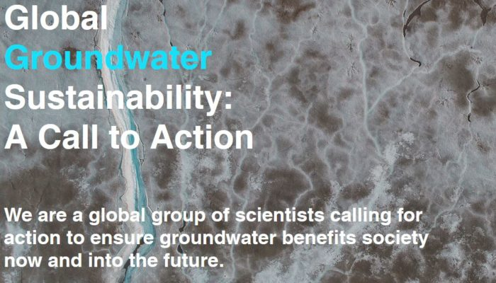 Global Groundwater Sustainability – A Call to Action… do you want to sign?